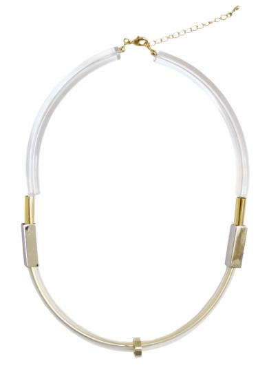 CLEAR LOOP NECKLACE