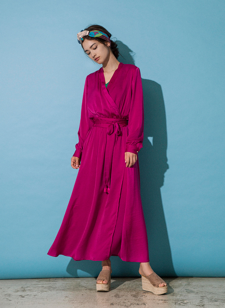 CACHE COEUR SATIN DRESS