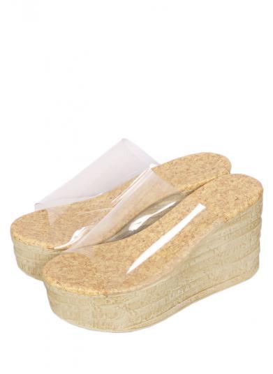CLEAR WEDGE SOLE SANDAL