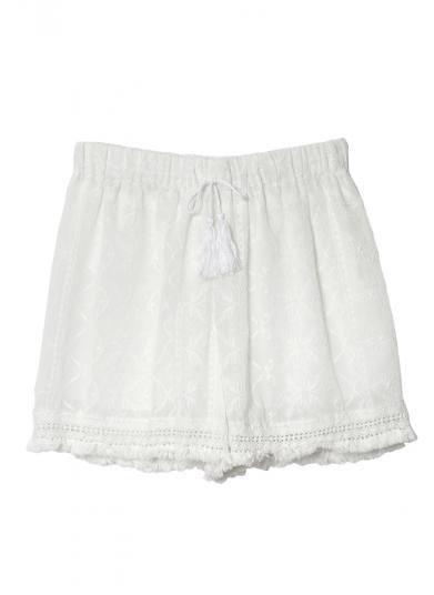 FRINGE LACE SHORT PANTS