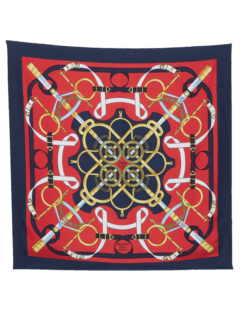 HERMES チェーンモチーフ SCARF