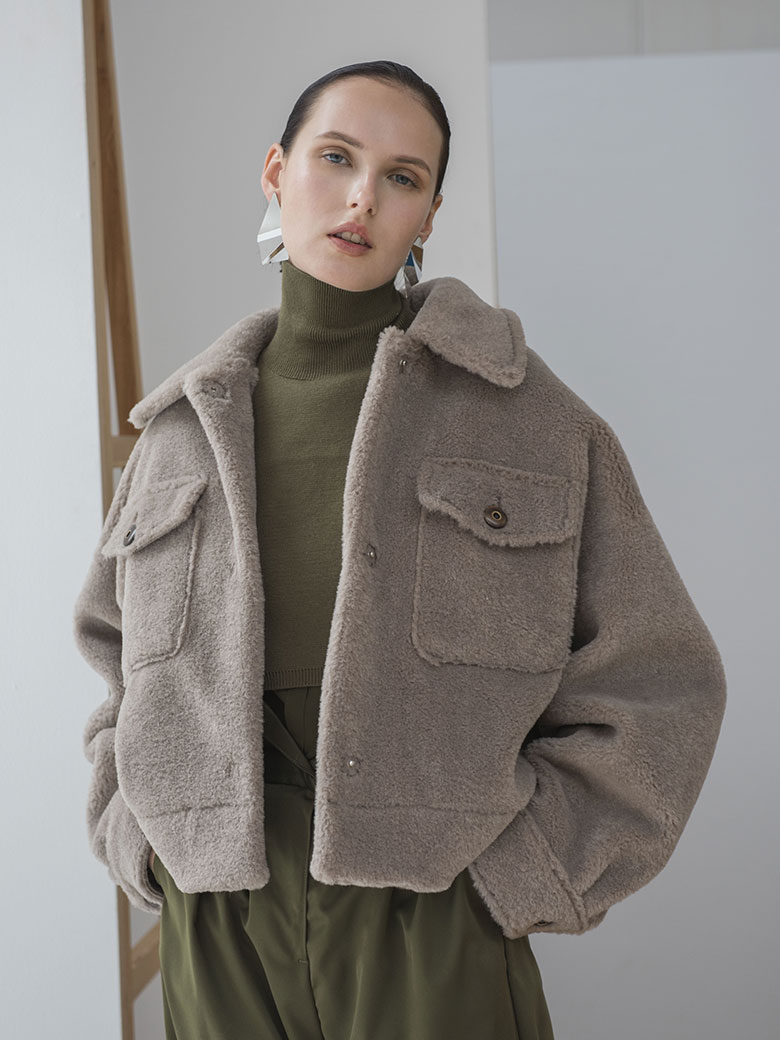 OVER SIZE ECO MOUTON COAT