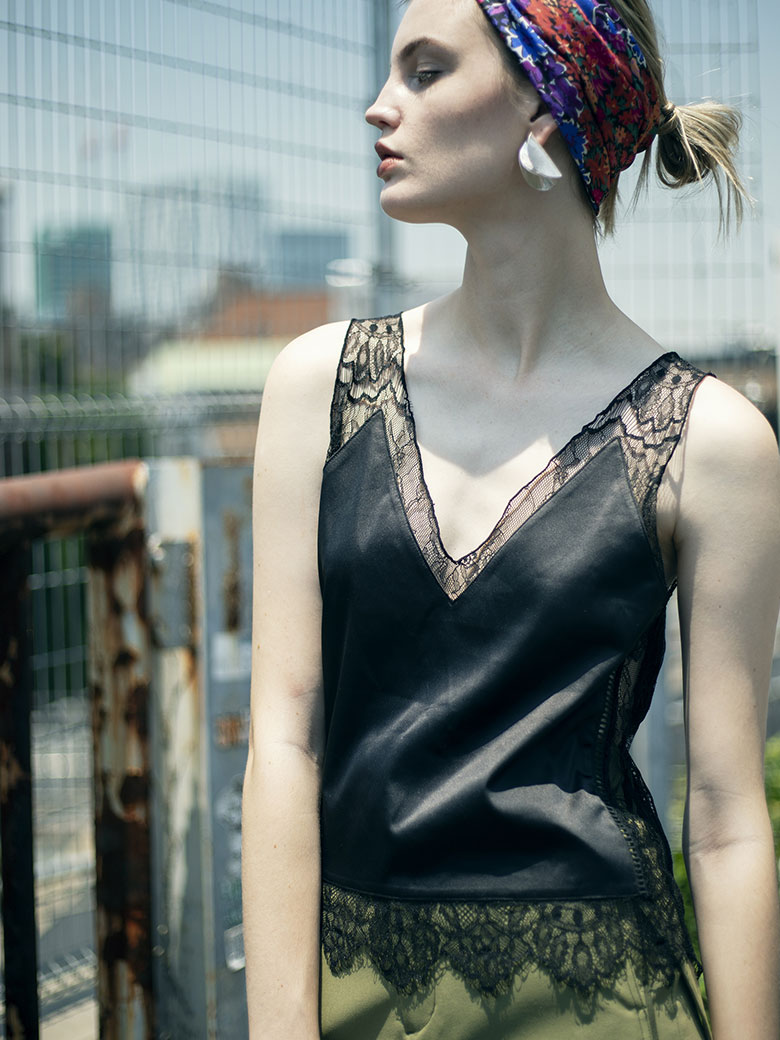 MEDI SHEER LACE CAMISOLE