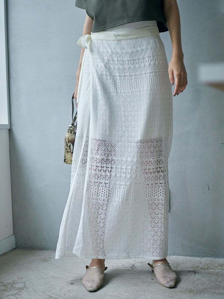 LACE MILLEFEUILLE PANTS