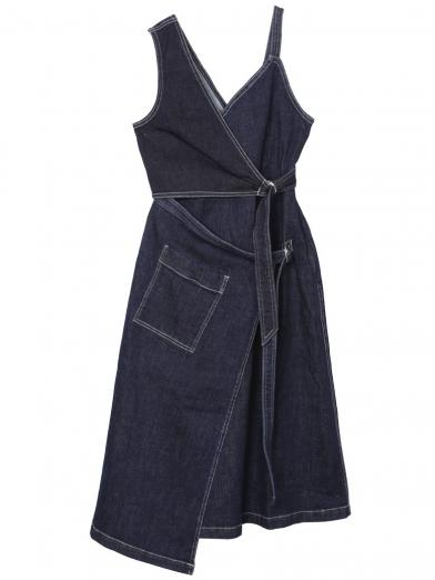 DENIM BELT DRESS
