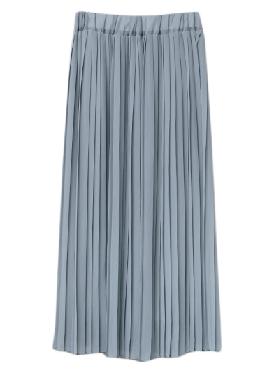 SOLID PLEATS SKIRT