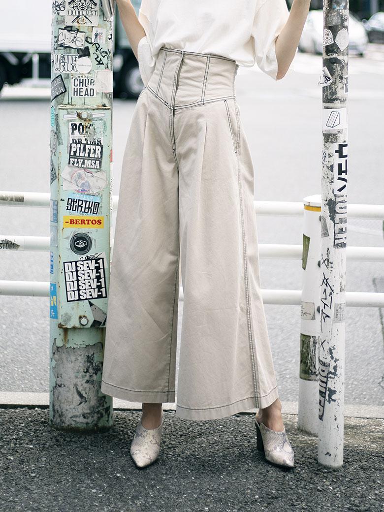 HIGH WAIST CORSET PANTS