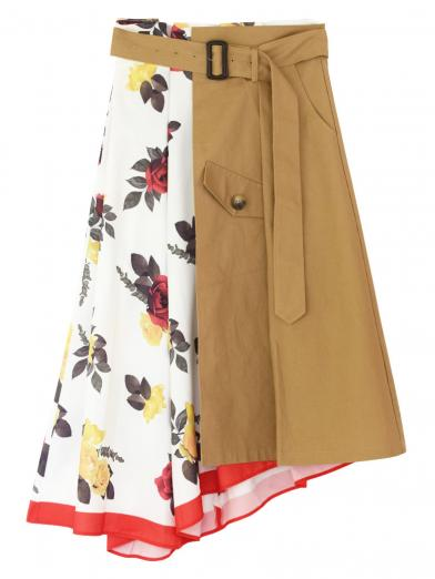 MEDI TRENCH PRINT SKIRT