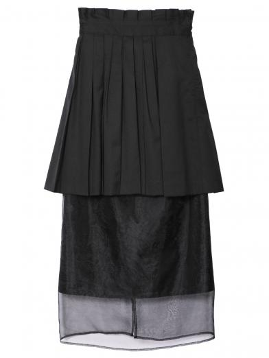 PLEATS UNDER SHEER SKIRT