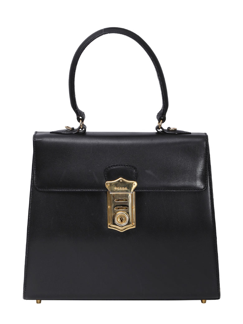 PRADA LEATHER HAND BAG