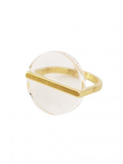 CLEAR PLANET CIRCLE RING