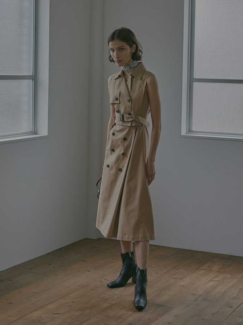 TRENCH LAYERED DRESS