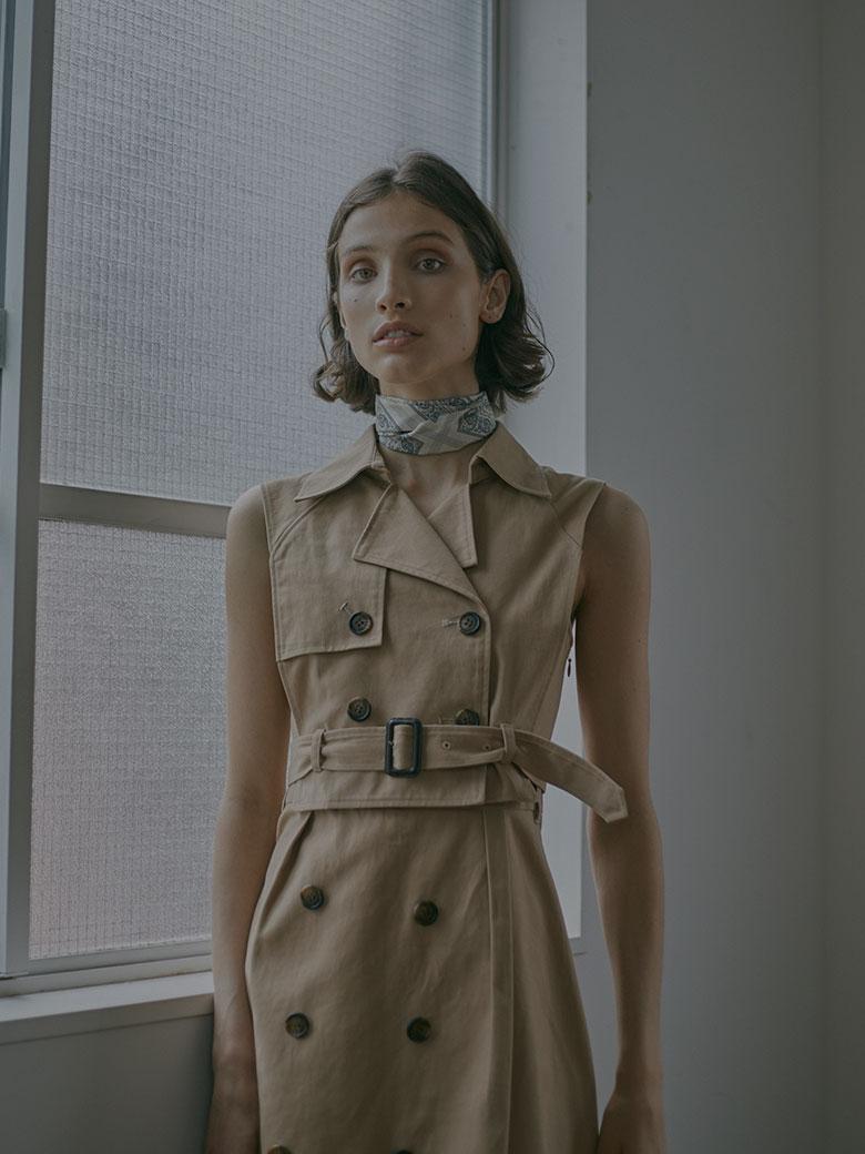 TRENCH LAYERED DRESS