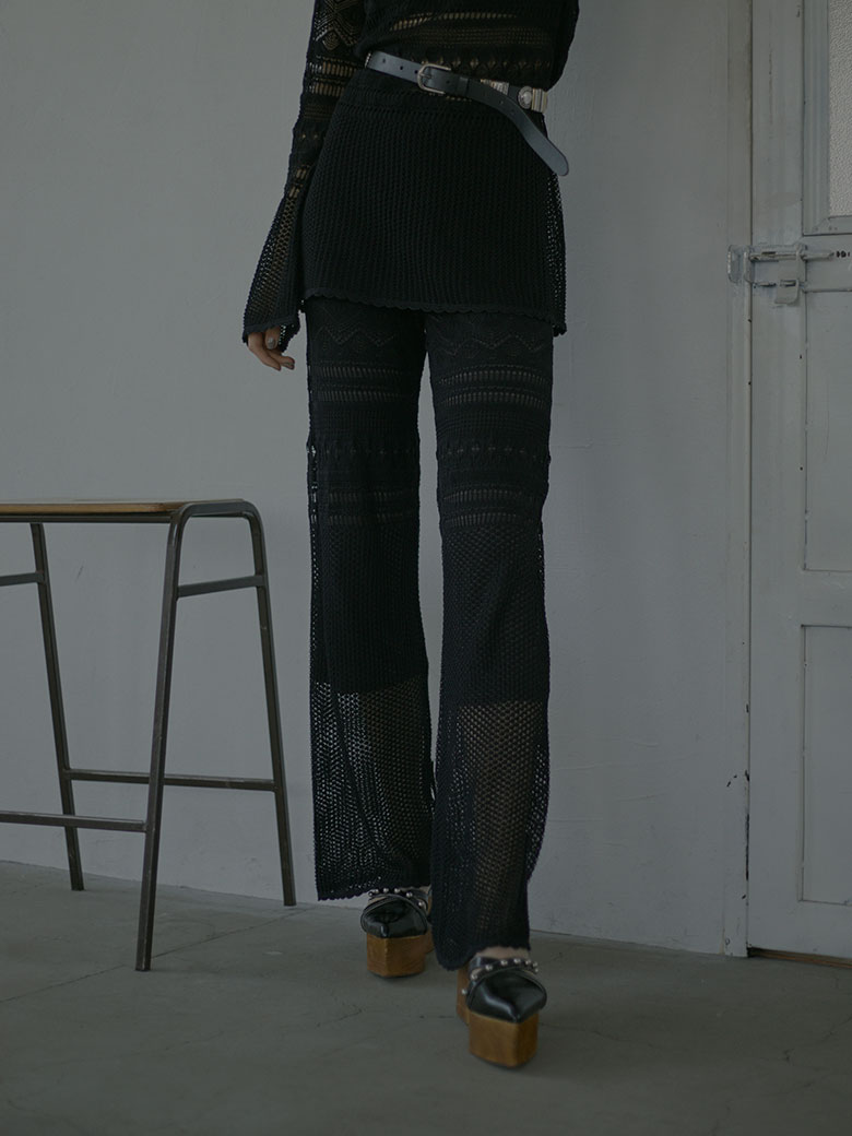 LACY FUSUMA KNIT PANTS