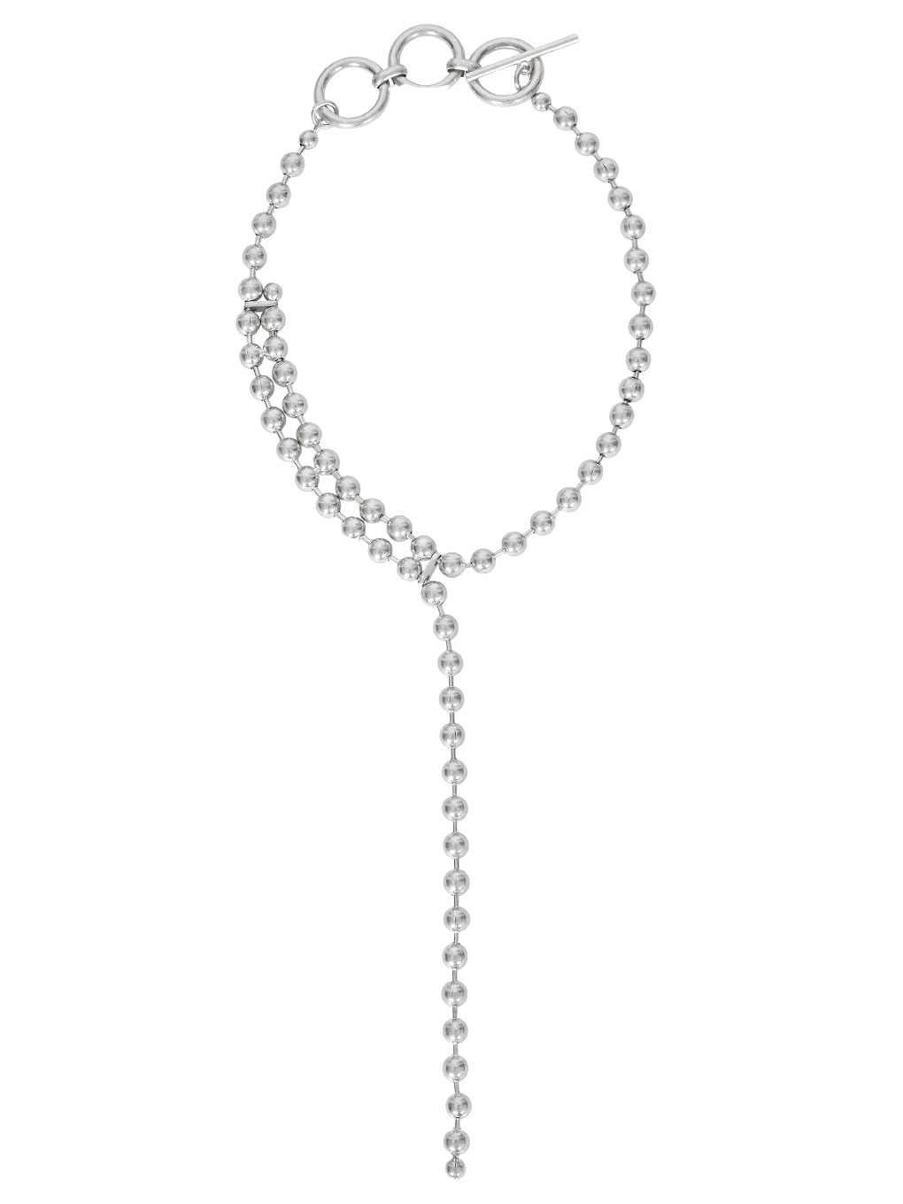 BALL CHAIN ONE ROUND NECKLACE