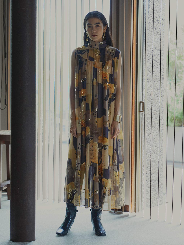 EMILIE GATHER DRESS