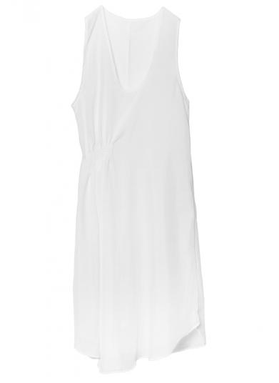GAUZE SHIRRING DRESS