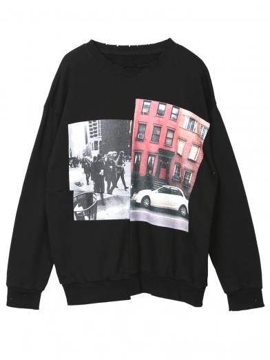 TOWN PHOTO SWEAT TOP