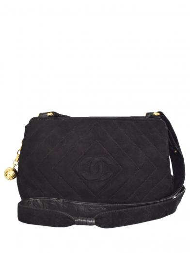 CHANEL SUEDE COCO SHOULDER BAG