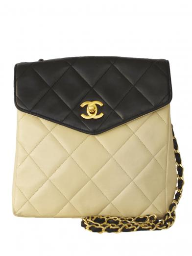 CHANEL BICOLOR QUILTING SHOULDER BAG