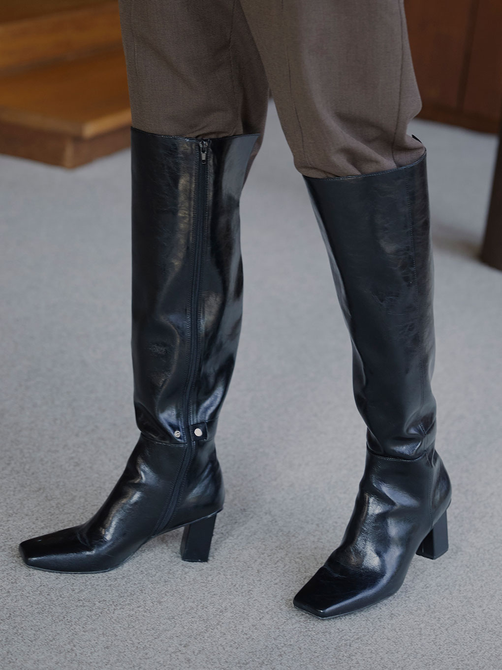 ECO LEATHER LONG BOOTS