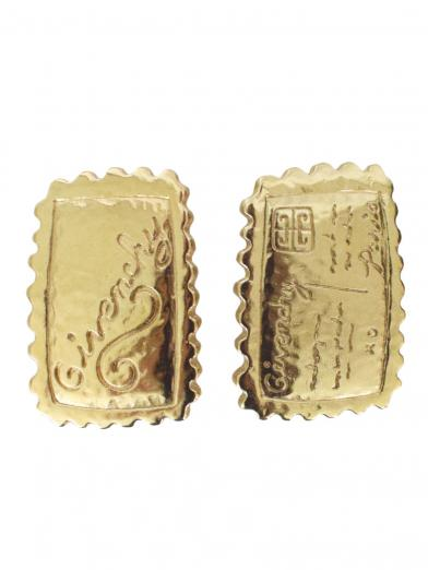GIVENCHY ASYMMETRY STAMP EARRINGS