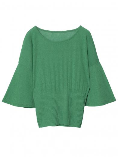 FLARE SLEEVE PLEATS TOP