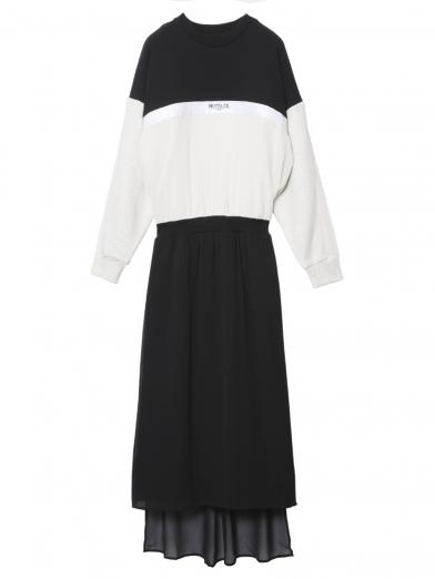LOGO FASTENER SWEAT DRESS