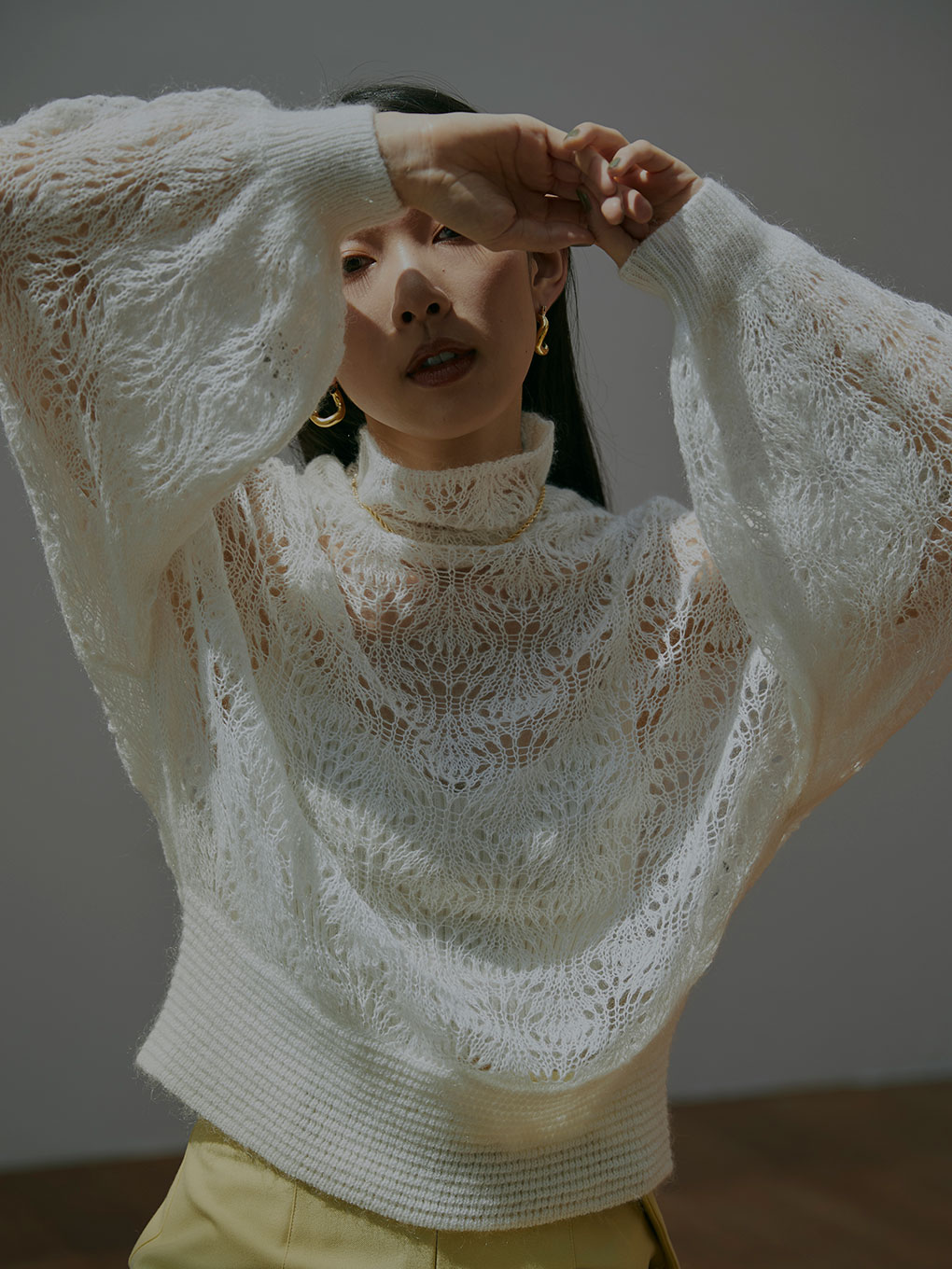 MOHAIR LACY KNIT