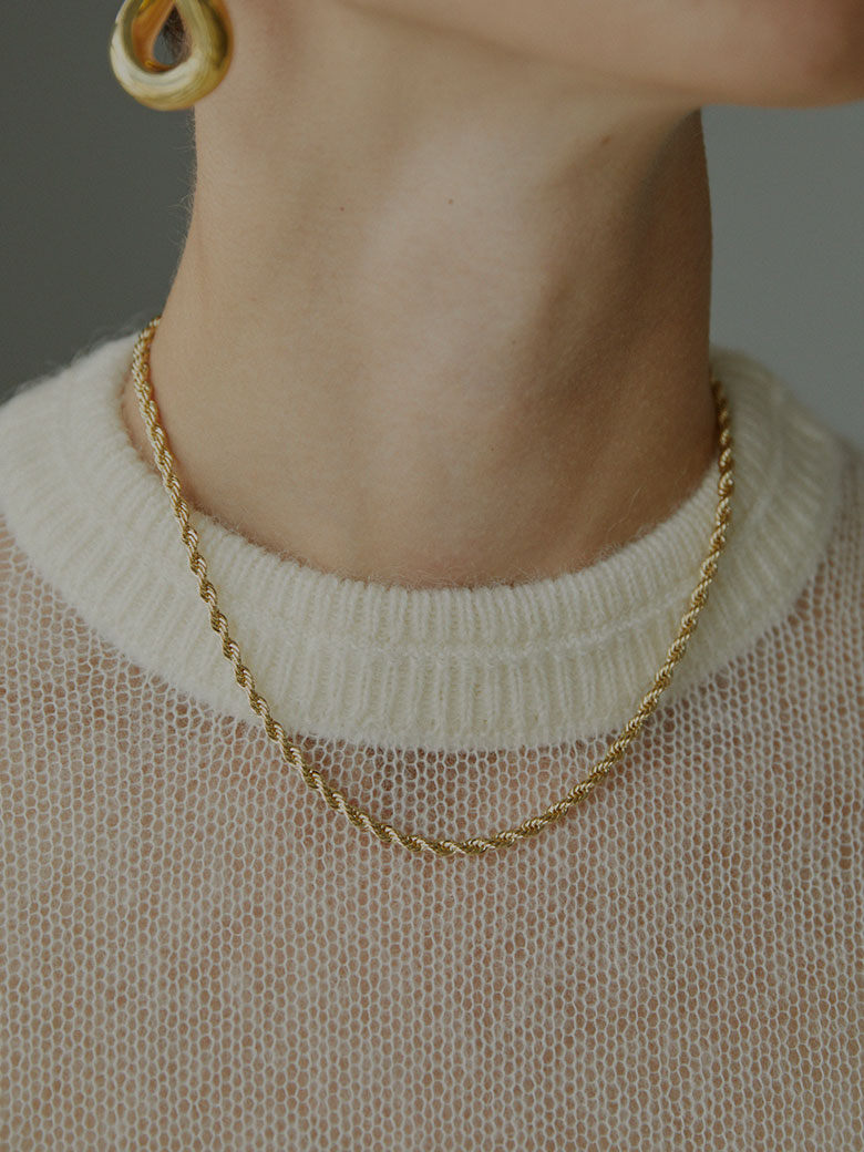 LAURA LOMBARDI ROPE CHAIN NECKLACE