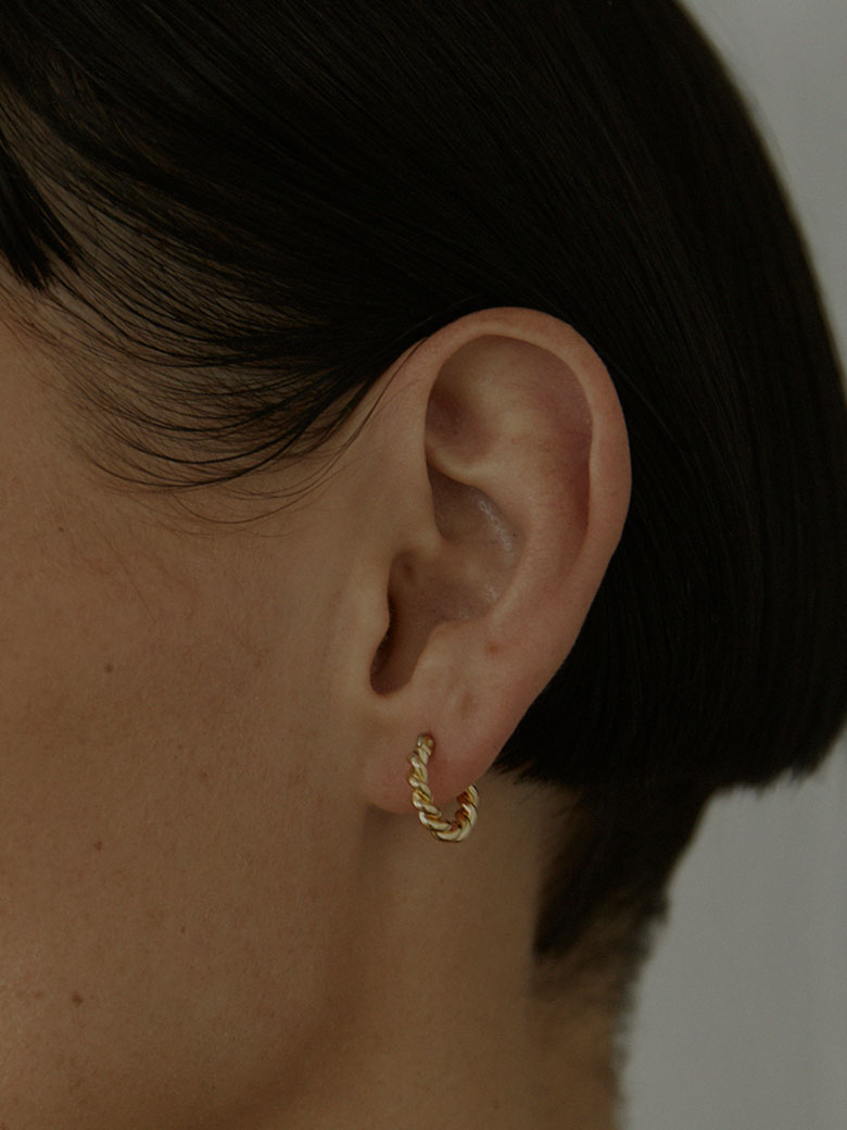 LAURA LOMBARDI MINI TWIST HOOPS