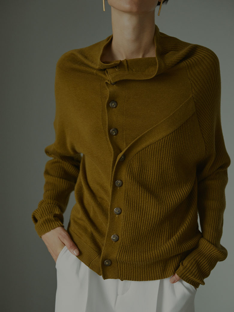 CONJUGATION KNIT CARDIGAN