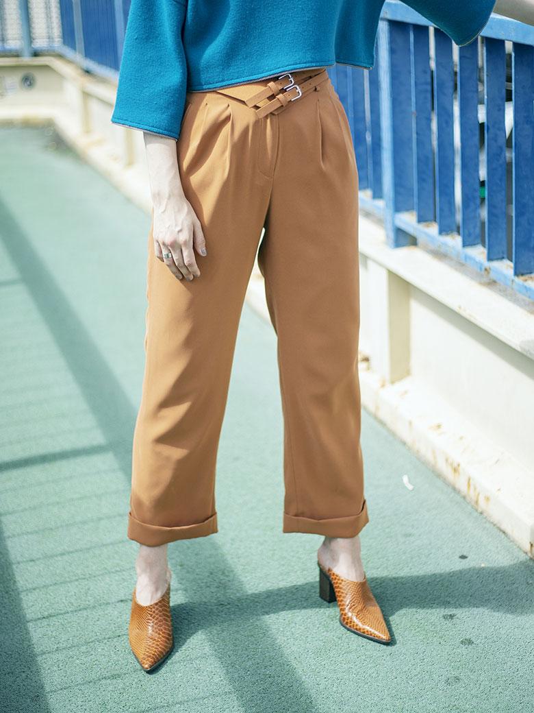 CORSET BELT PANTS