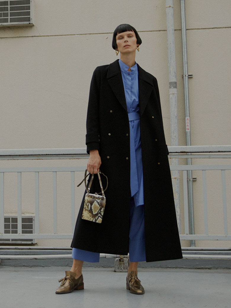 BELT FLARE LONG COAT