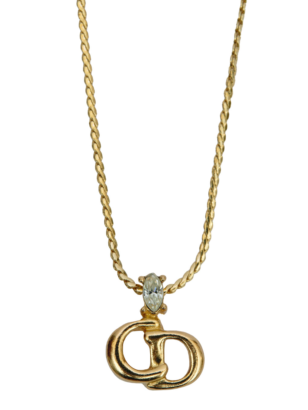 DIOR CD LOGO NECKLACE