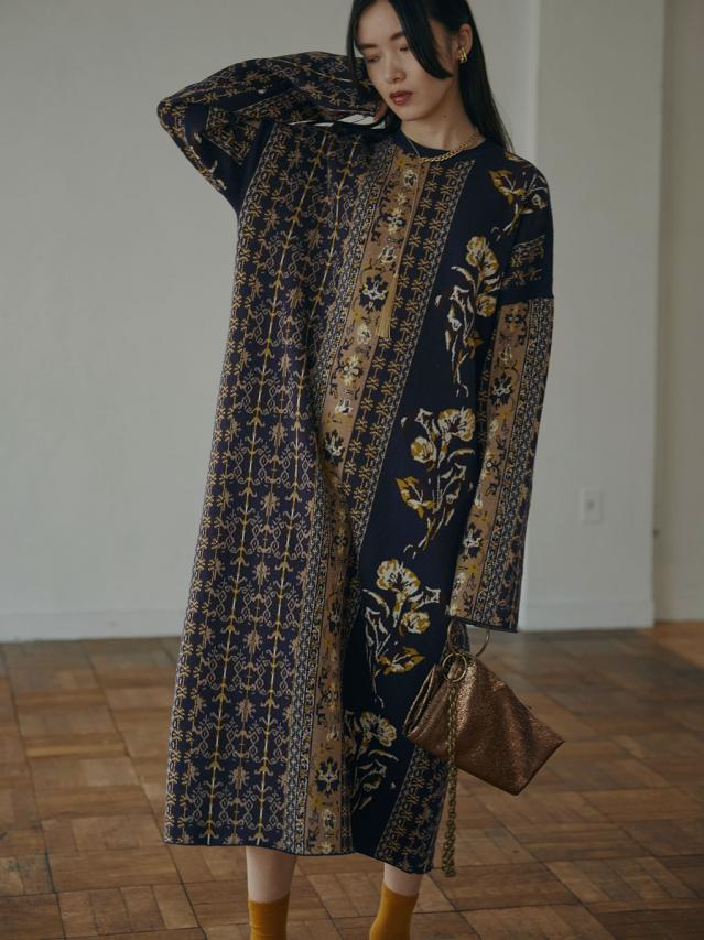 IMANE JACQUARD KNIT DRESS
