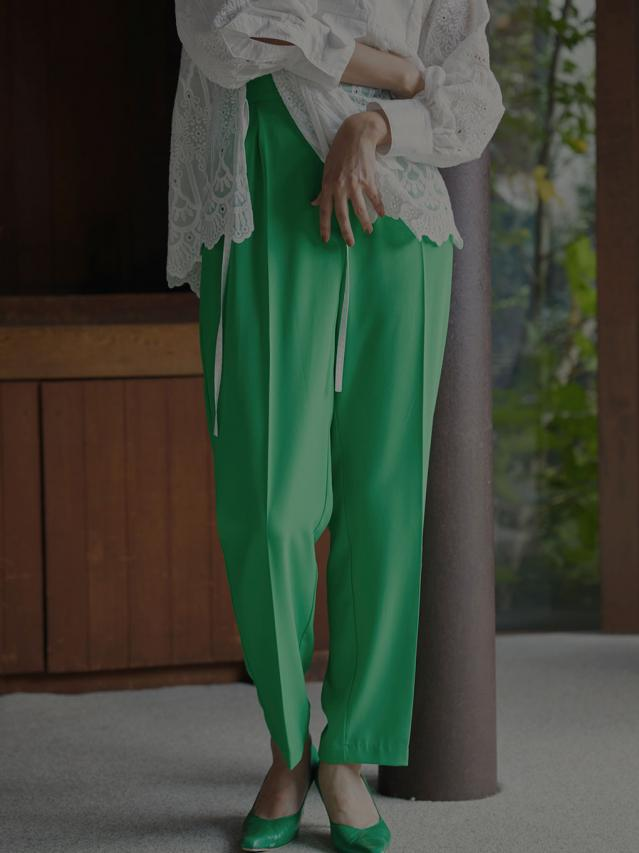 GEORGETTE TAPERED PANTS