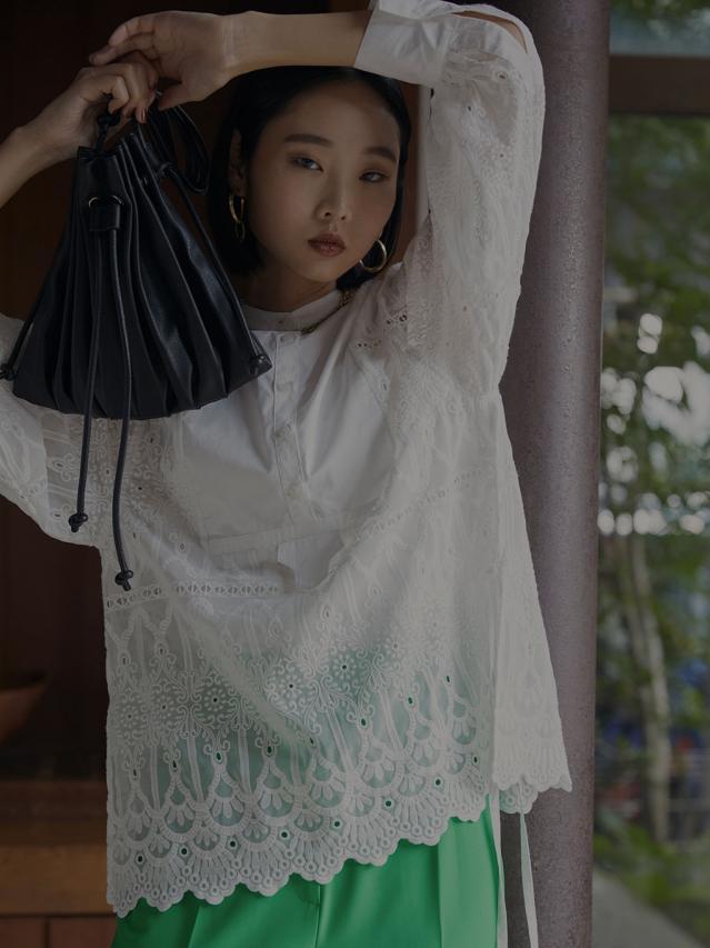 LAYERED LACE DRESS SHIRT