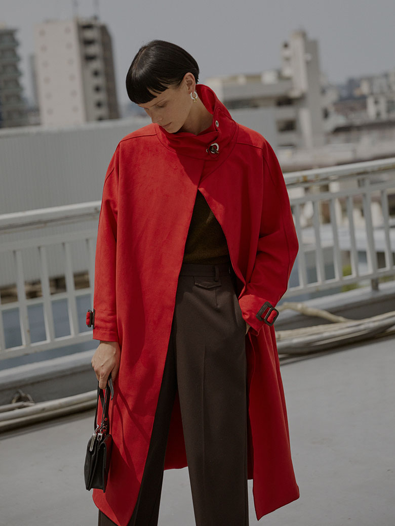 WRAP COLLAR COAT