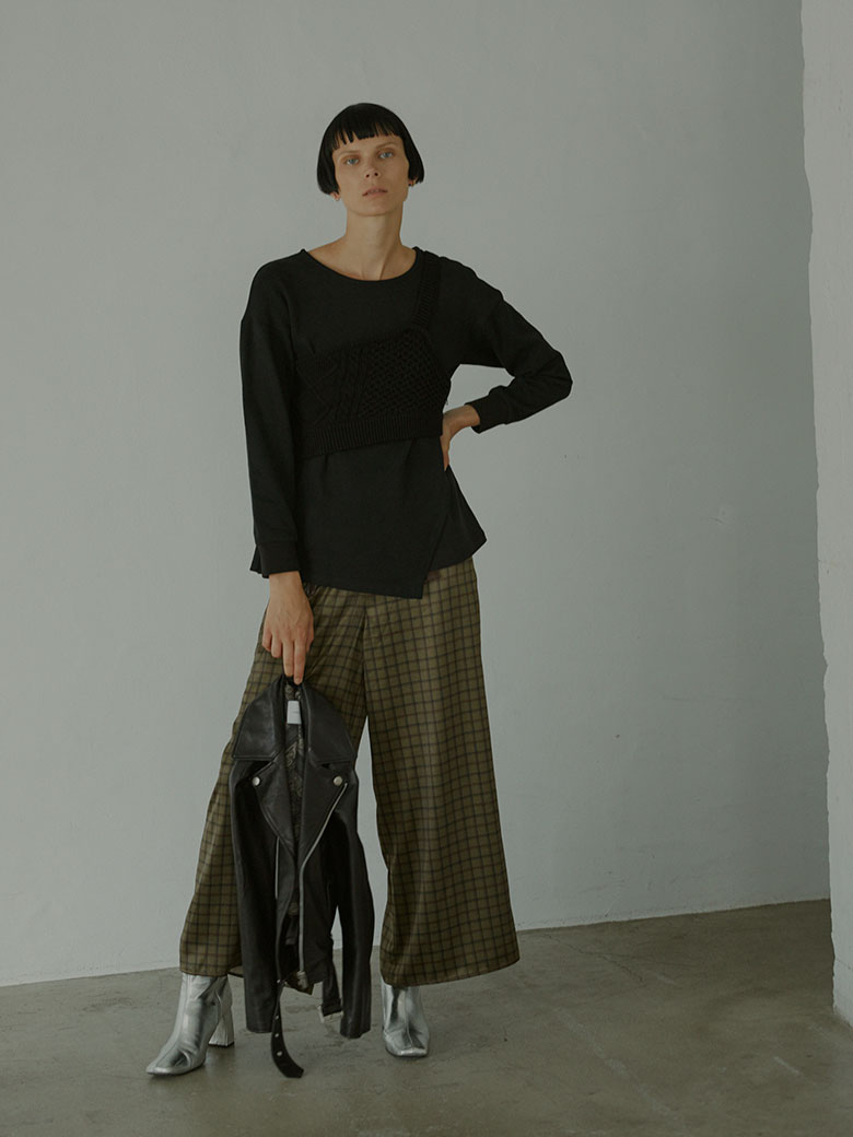 TROMPE L'OEIL CHECK PANTS