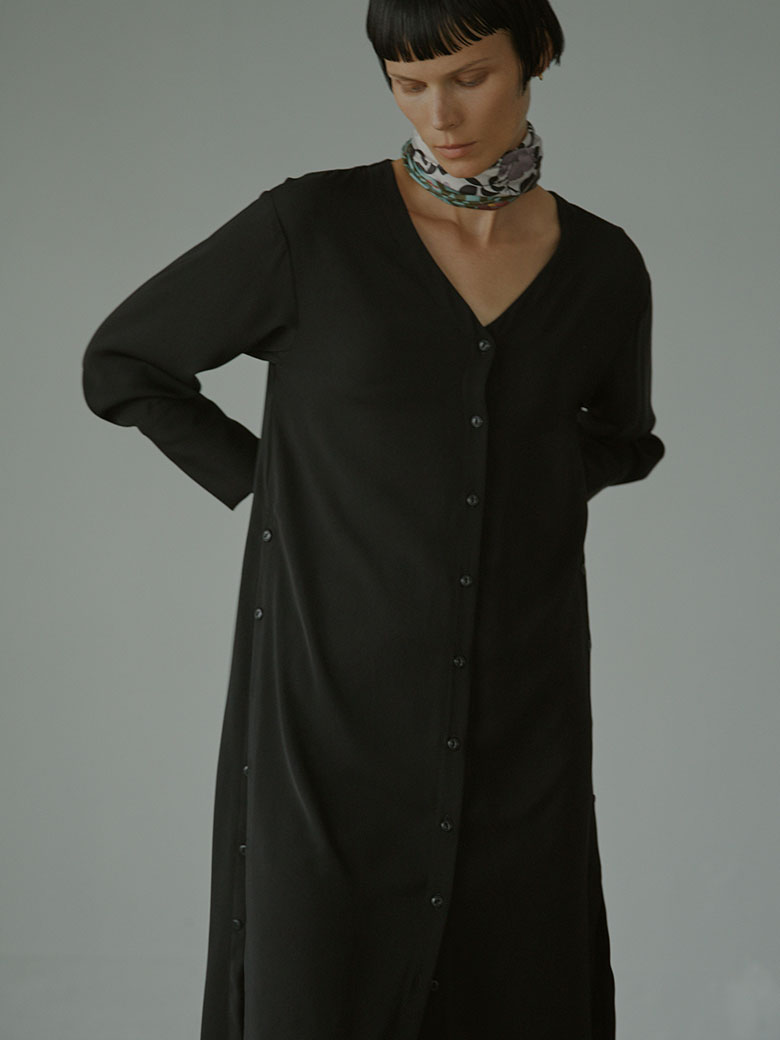 HANNAH SCARF SET LONG SHIRT