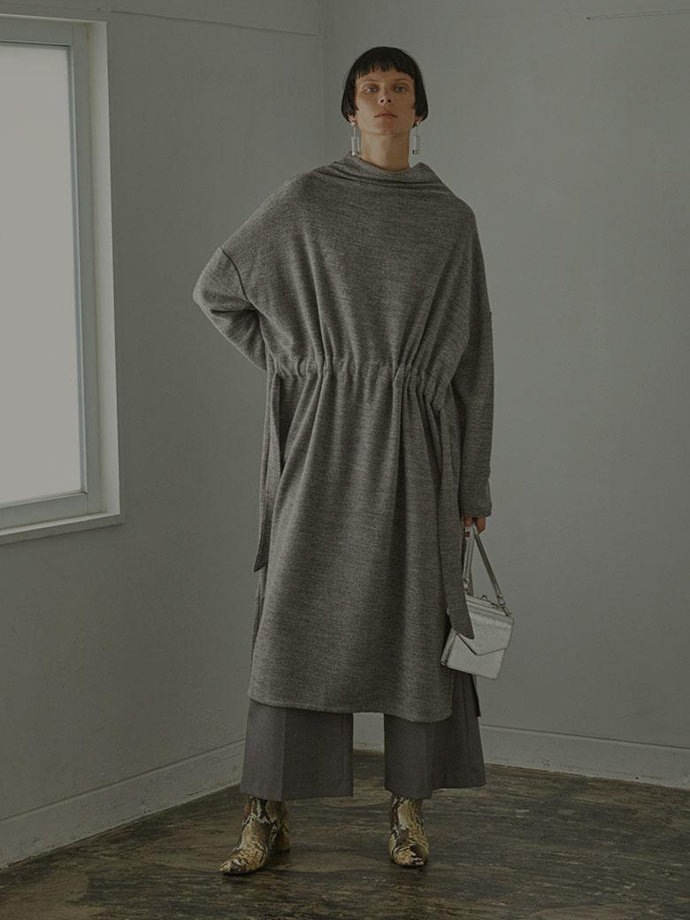 OVER DRAWSTRING DRESS