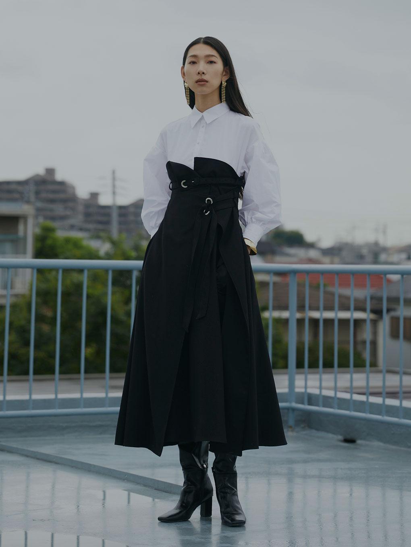 MILLEFEUILLE SHIRT DRESS