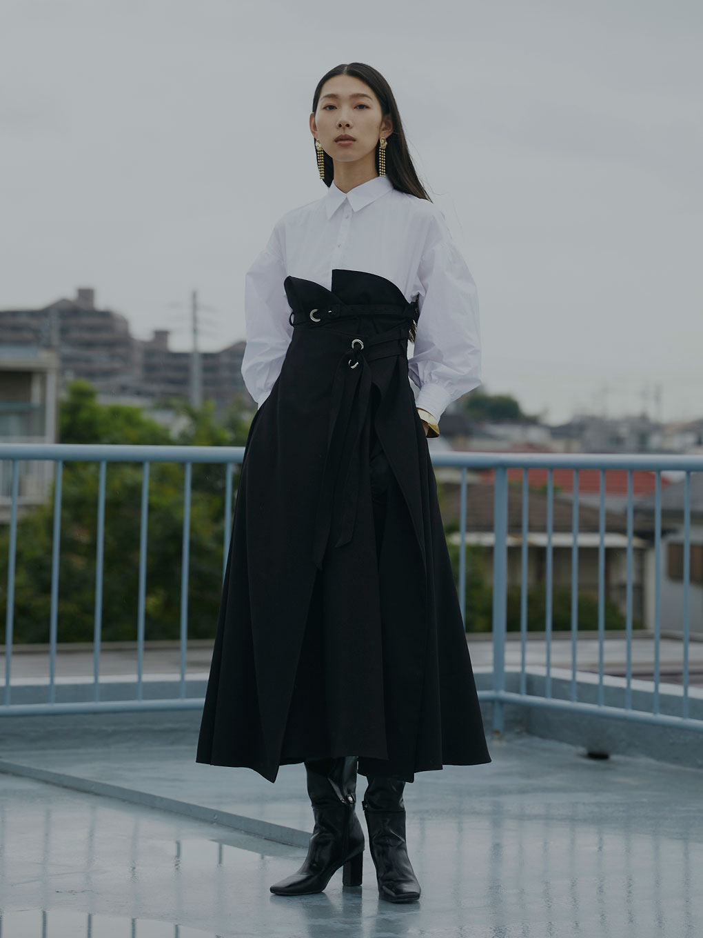 MILLEFEUILLE SHIRT DRESS