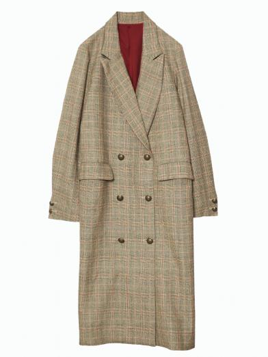 GLEN CHECK DOUBLE COAT