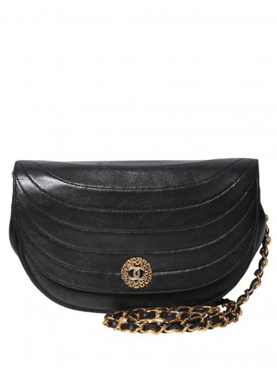 CHANEL VINTAGE ROUND SHOULDER BAG