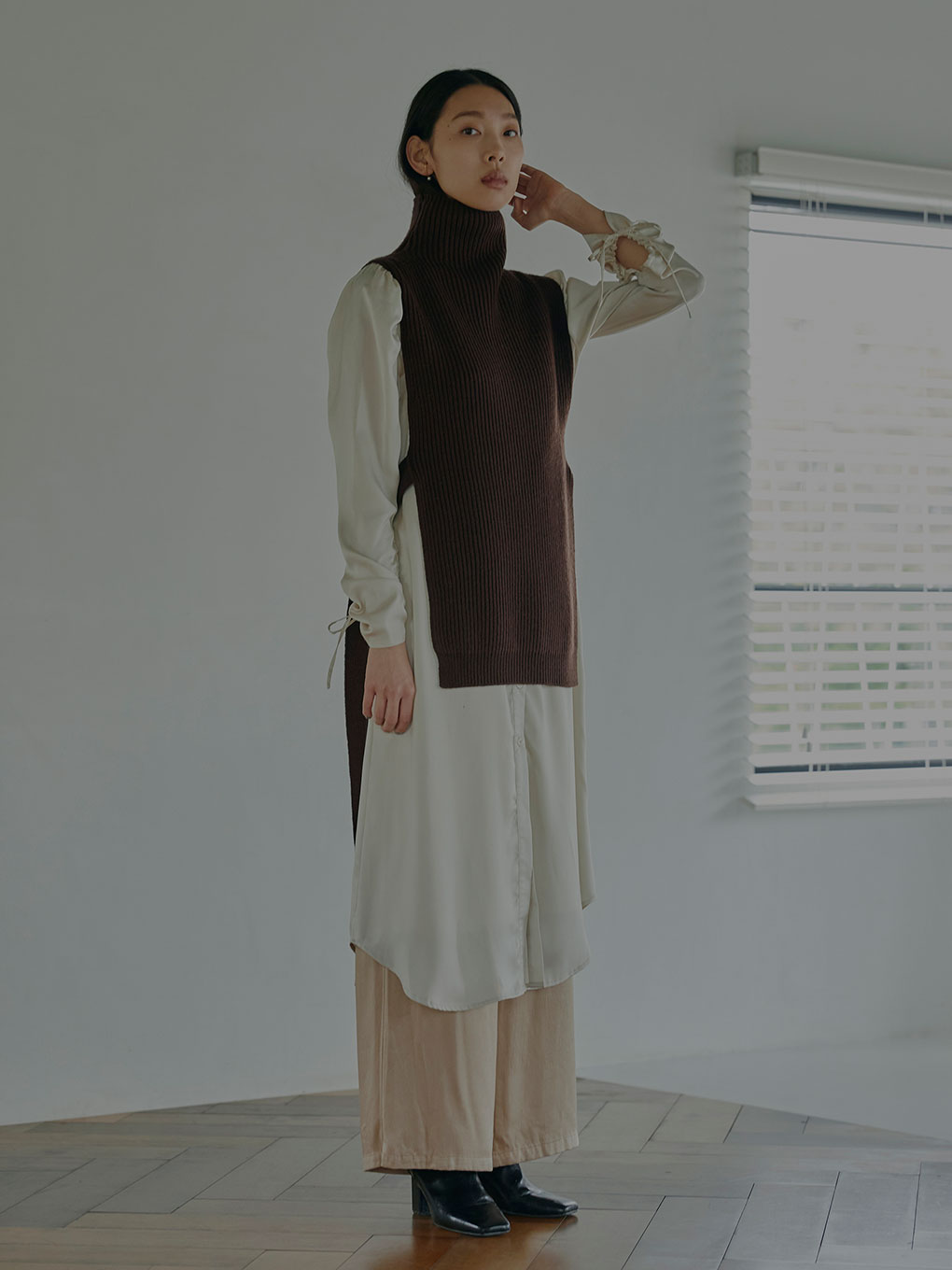VEST LAYERED SHIRT DRESS