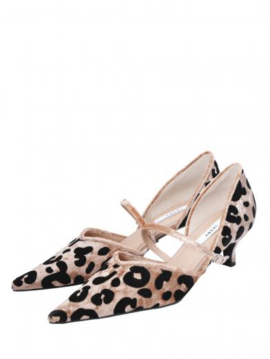 FLOCKY LEOPARD  PUMPS