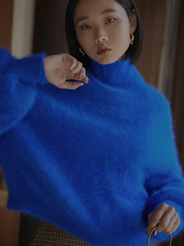 POPPING COLOR ANGORA KNIT