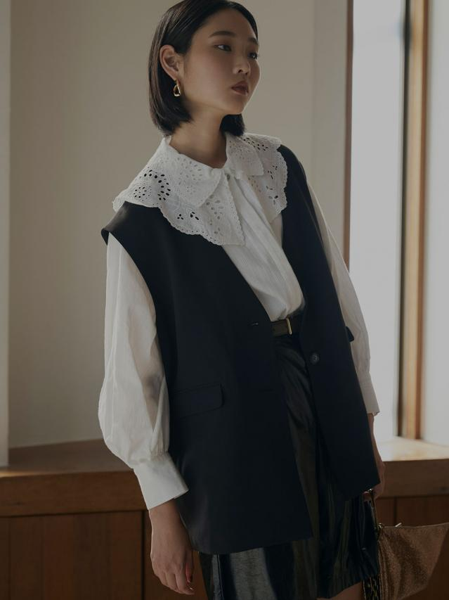 2WAY LADY BLOUSE WITH VEST